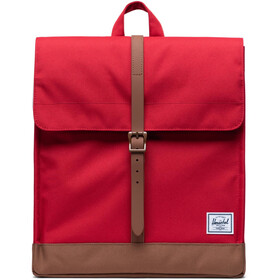 Herschel City Mid-Volume Rucksack 14l red/saddle brown